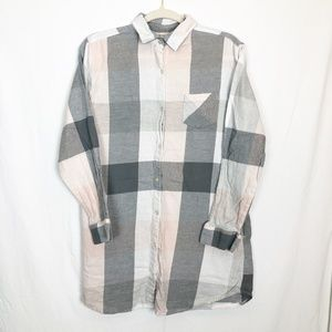 Sonoma Size Small Oversized Button Up Flannel